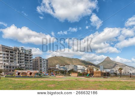 Cape Town, South Africa, August 17, 2018: A Childrens Playground At Mouille Point In Cape Town In Th