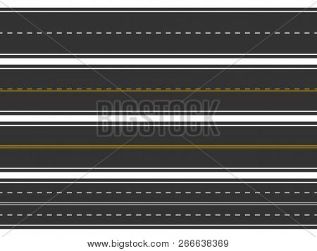 Bending Roads And High Ways. Road Curves Geometric Design, Street Intersection, Connecting Major Tow
