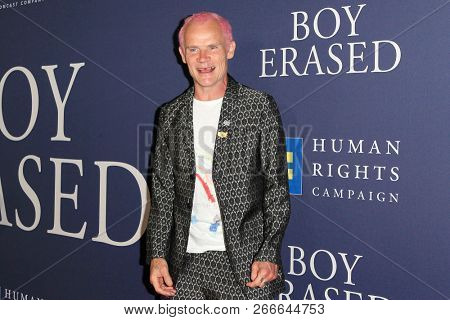 WEST HOLLYWOOD - OCT 29: Flea, aka Michael Peter Balzary arriving at the Premiere of Boy Erased at the Directors Guild of America on October 29, 2016 in West Hollywood, California
