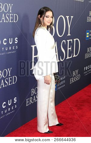 WEST HOLLYWOOD - OCT 29: Madelyn Cline arriving at the Premiere of Boy Erased at the Directors Guild of America on October 29, 2016 in West Hollywood, California