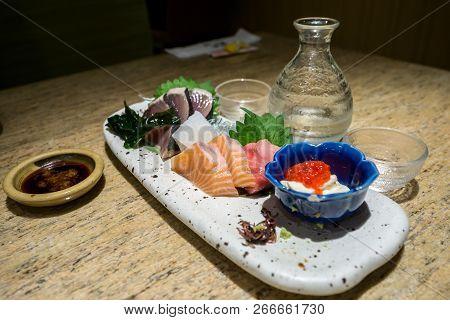 Sashimi Platter With Sake