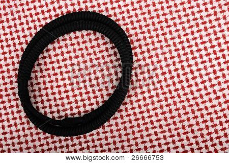 Traditional arab keffiyeh and agal, traditional clothes background
