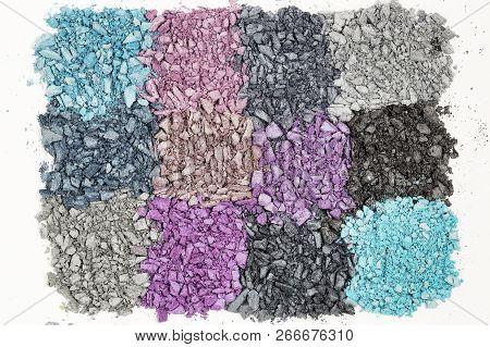 Macro Of Crushed Eye Shadow, Multicolor Collection