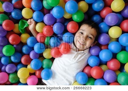 Kid, play, ball - little boy playing with balls