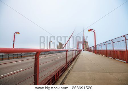 Perspective View Of Golden Gate Pedestrian Path Crossing Golden Gate Bridge From Presidio Pacific Po