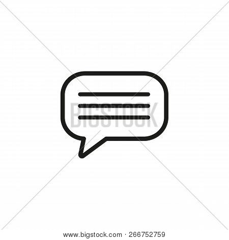 Monologue Line Icon. Text In Speech Bubble. Dialog Concept. Can Be Used For Topics Like Message, Cha