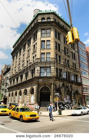 NEW YORK CITY - MAY 15: Even though the building at 190 Bowery looks abandoned, it is actually a 72 room