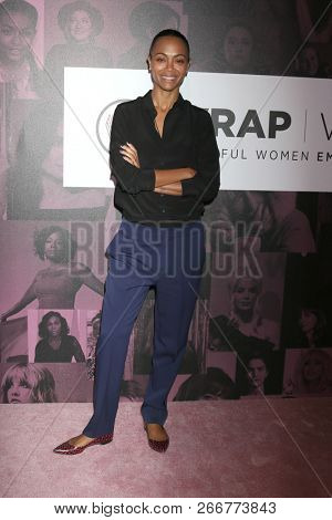 LOS ANGELES - NOV 2:  Zoe Saldana at the Power Women Summit - Friday at the InterContinental Los Angeles on November 2, 2018 in Los Angeles, CA