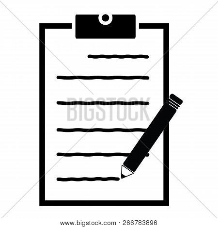 Write Feedback Icon On White Background. Flat Style. Feedback Form Sign For Your Web Site Design, Lo