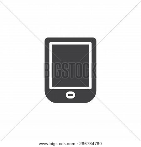 Ebook Reader Vector Icon. Filled Flat Sign For Mobile Concept And Web Design. Ebook Device Simple So