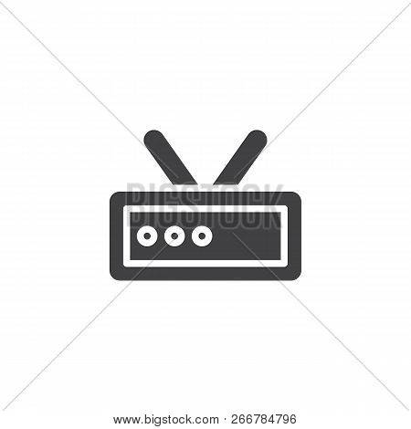 Wifi Router Signal Vector Icon. Filled Flat Sign For Mobile Concept And Web Design. Wifi Modem With