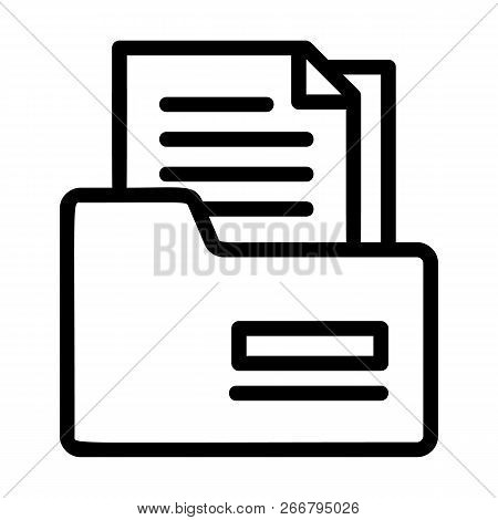 Tax Folder Icon. Outline Tax Folder Icon For Web Design Isolated On White Background