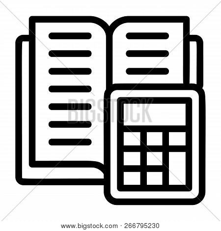 Tax Calculator Icon. Outline Tax Calculator Icon For Web Design Isolated On White Background