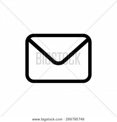 Email Icon Isolated On White Background. Email Abstract Icon In Flat Style. Envelope Pictogram. Mail