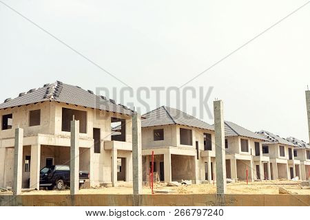 Realestate Sites Construction Housing Working For New Home