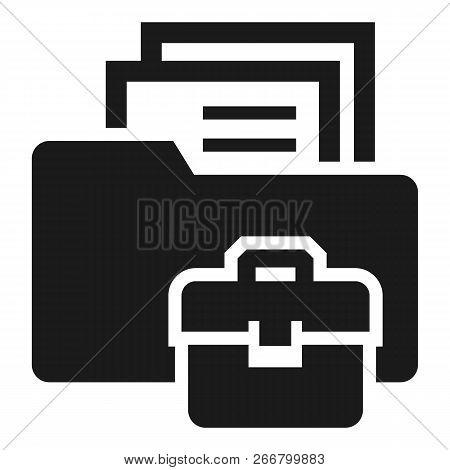 Folder Briefcase Icon. Simple Illustration Of Folder Briefcase Icon For Web Design Isolated On White