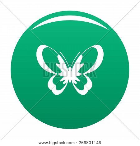Unknown Butterfly Icon. Simple Illustration Of Unknown Butterfly Icon For Any Design Green