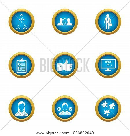 Operating Time Icons Set. Flat Set Of 9 Operating Time Icons For Web Isolated On White Background