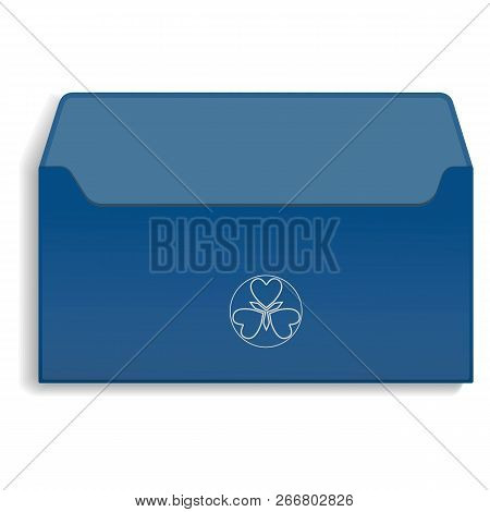 Back Side Of Envelope Icon. Realistic Illustration Of Back Side Of Envelope Icon For Web Design