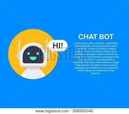 Chat Bot Robot Virtual Assistance Of Website Or Mobile Applications. Voice Support Service Bot. Onli