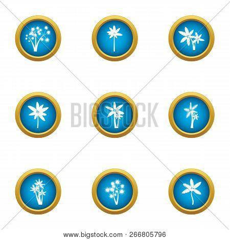 Florescence Icons Set. Flat Set Of 9 Florescence Icons For Web Isolated On White Background