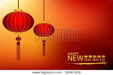 Traditional Chinese lanterns for chinese new year