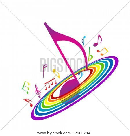Abstract background with vibrant notes