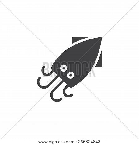 Squid Food Vector Icon. Filled Flat Sign For Mobile Concept And Web Design. Asian Seafood Simple Sol