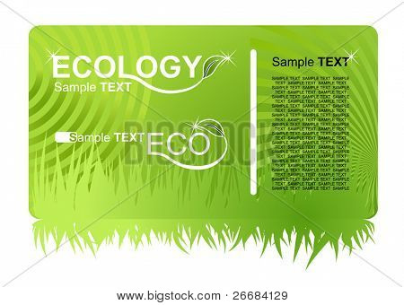 eco green business card. vector illustration