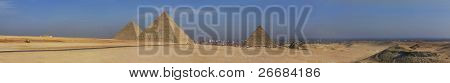 panorama egypt pyramid giza cairo