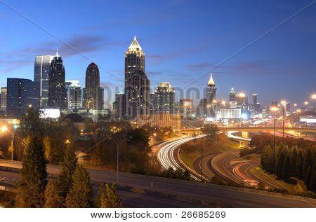 cityscape of downtown atlanta, georgia, usa
