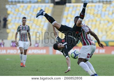 Rio, Brazil - November 03, 2018: Yago Pikachu Player In Match Between Fluminense And Vasco By The Br
