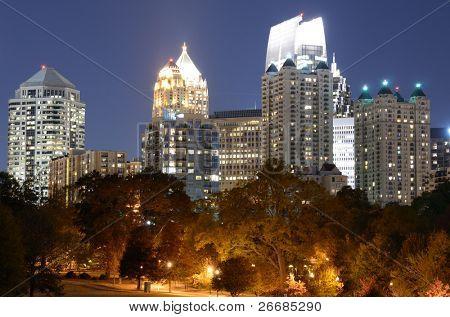 Midtown viewed from Piedmont Park in Atlanta, Georgia, USA.