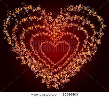 Glowing Heart Shape