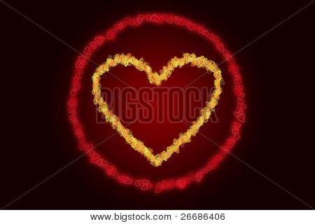 Heart Shape In A Ring