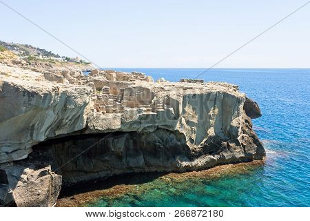 Torre Die Miggiano, Apulia, Italy - Stone Pit At The Defense Tower Of Santa Cesarea Terme