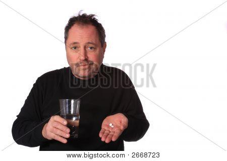 Man Taking Meds