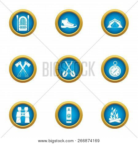 Journey To The Mystery Icons Set. Flat Set Of 9 Journey To The Mystery Icons For Web Isolated On Whi