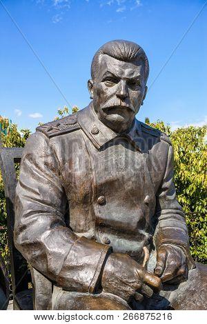 Yalta, Russia - May 17, 2016: Statue Of Soviet Leader Stalin By Zurab Tsereteli At The Livadia Palac
