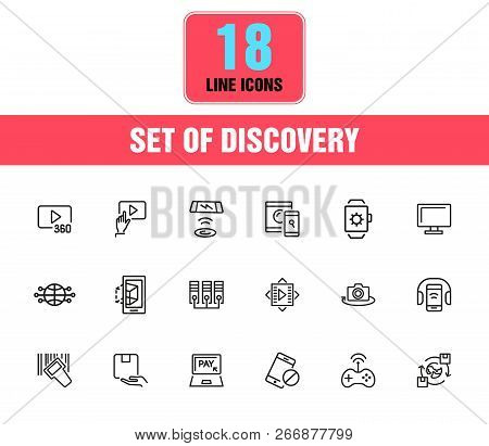 Discovery Icons  Set Vector & Photo (Free Trial) | Bigstock