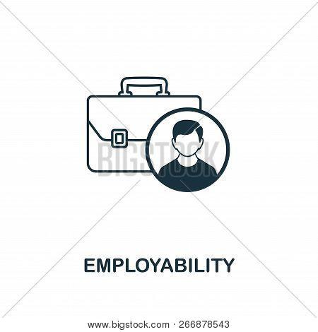 Employability Outline Icon. Premium Style Design From Project Management Icons Collection. Simple El