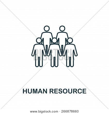 Human Resource Outline Icon. Premium Style Design From Project Management Icons Collection. Simple E