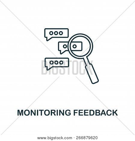 Monitoring Feedback Outline Icon. Premium Style Design From Project Management Icons Collection. Sim