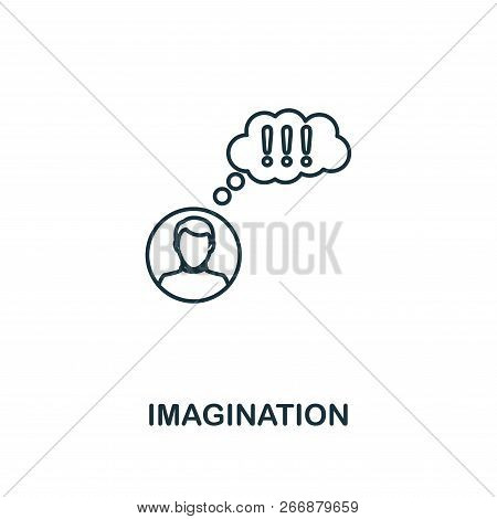 Imagination Outline Icon. Premium Style Design From Project Management Icons Collection. Simple Elem