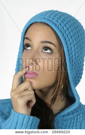 Woman With A Blue Wool Cap
