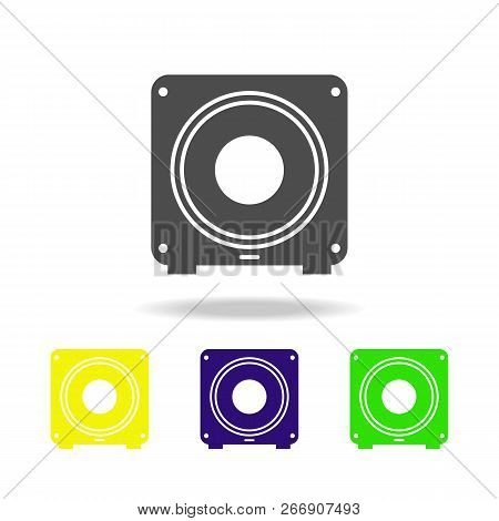 Subwoofer Multicolored Icons. Element Of Music Icon. Signs And Symbols Collection Icon For Websites,