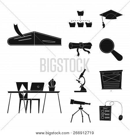 Vector Illustration Of Education And Learning Symbol. Set Of Education And School Stock Vector Illus