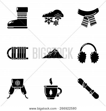 Hosiery icons set. Simple set of 9 hosiery vector icons for web isolated on white background poster