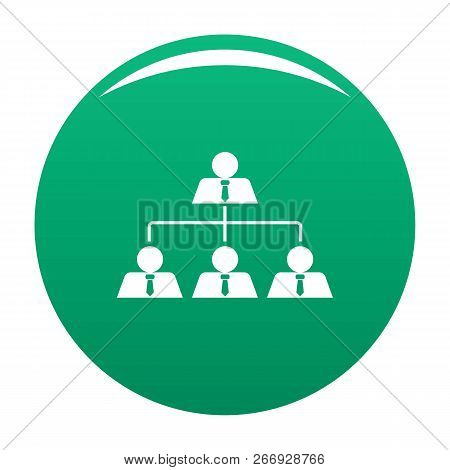 Leadership Icon. Simple Illustration Of Leadership Vector Icon For Any Design Green