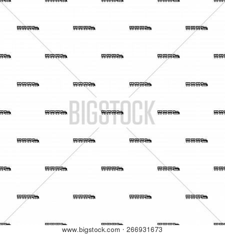 Compartment Train Pattern Seamless Vector Repeat Geometric For Any Web Design